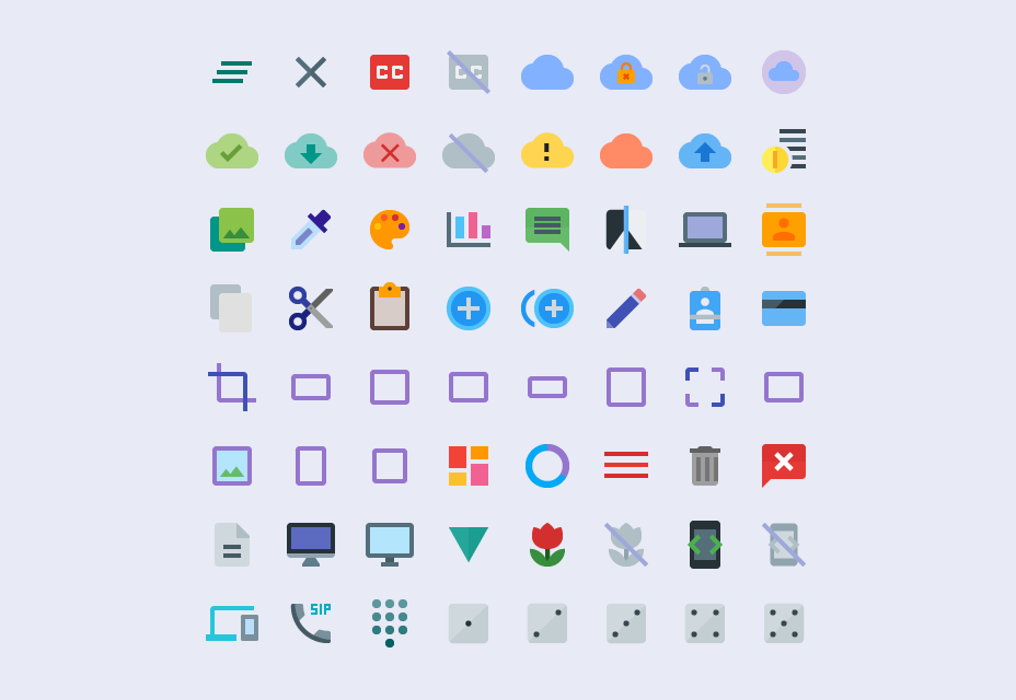Multisize Material Design-pictogrammen
