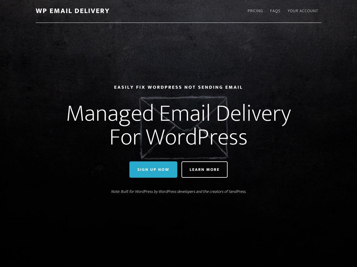 Entrega de correo electrónico WP