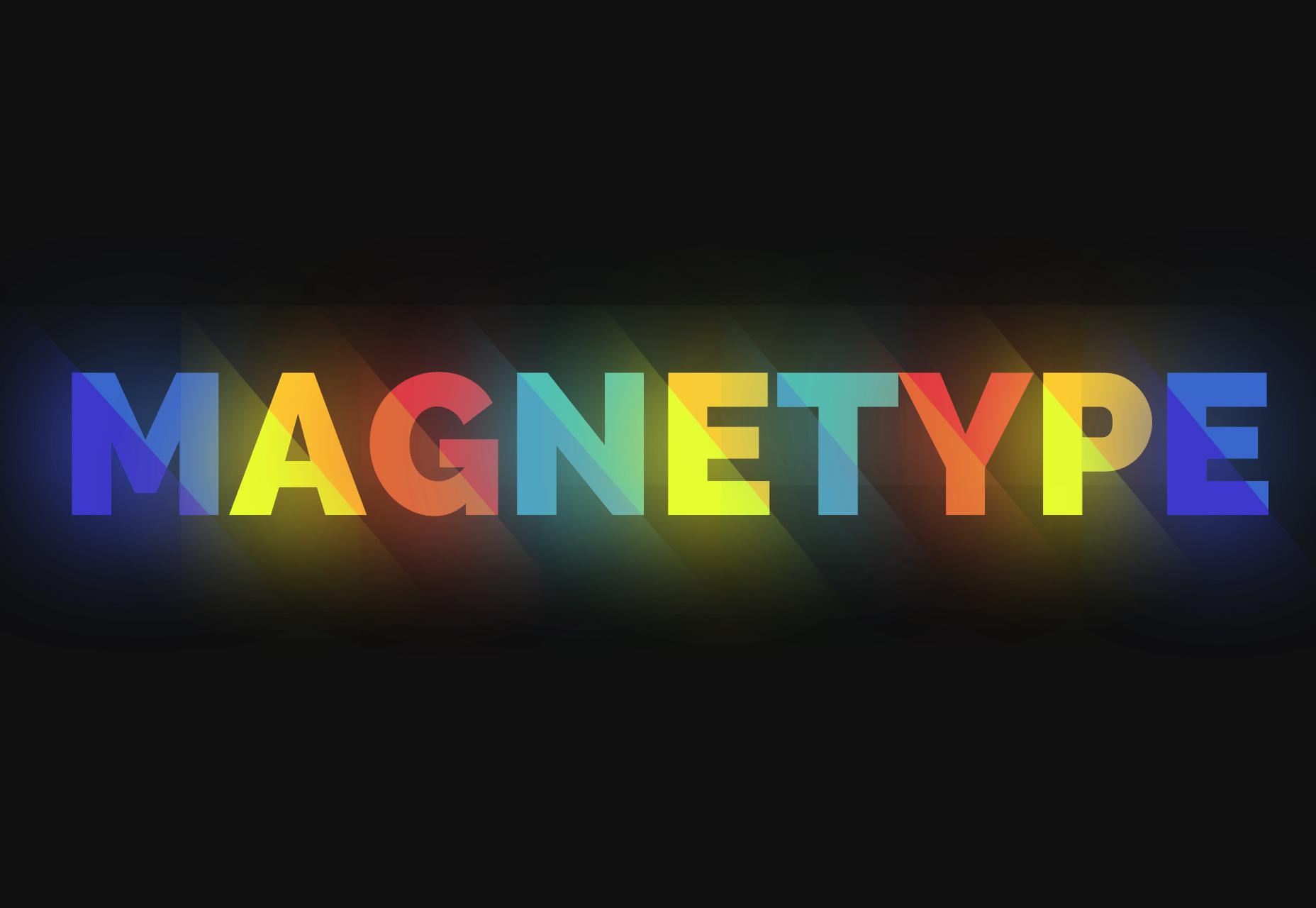 Magnetype: efecto de texto brillante y animación