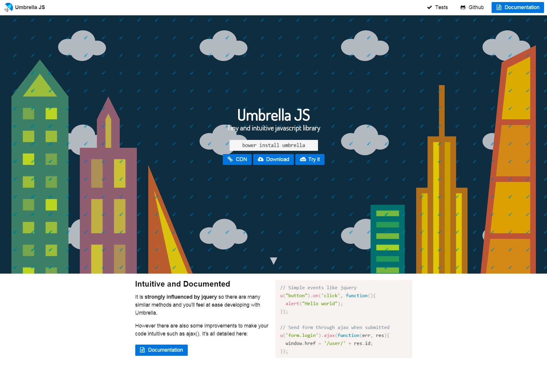 Deštník JS: Malá a intuitivní knihovna JavaScript