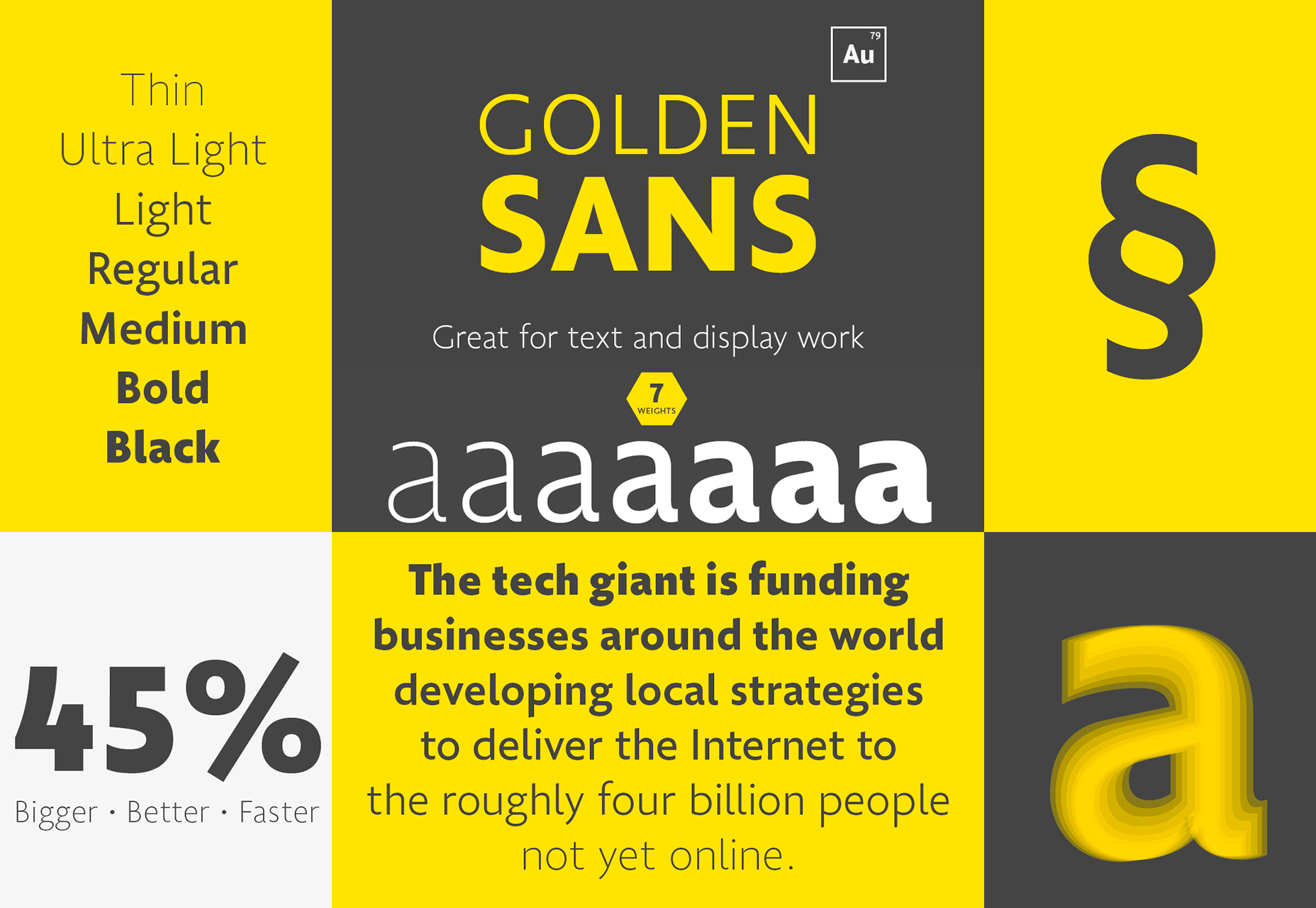 Golden Sans: Professional Multiweight Fuente