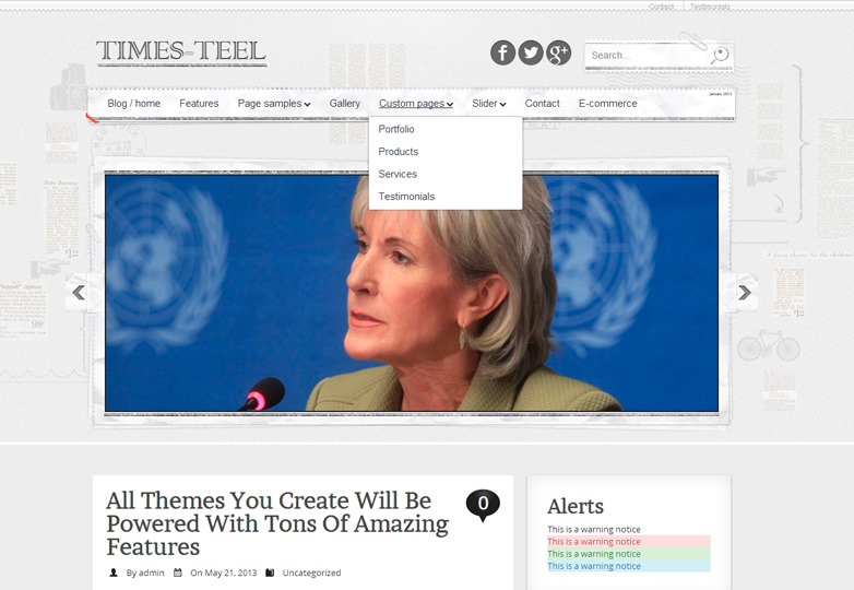 Times-teel WordPress theme