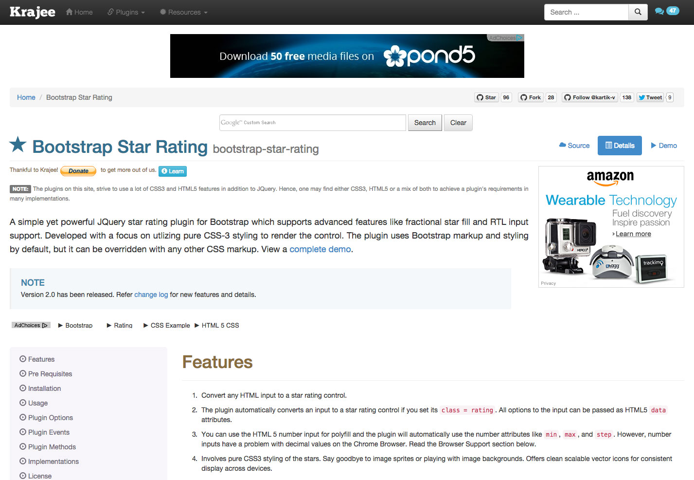 clasificación por estrellas