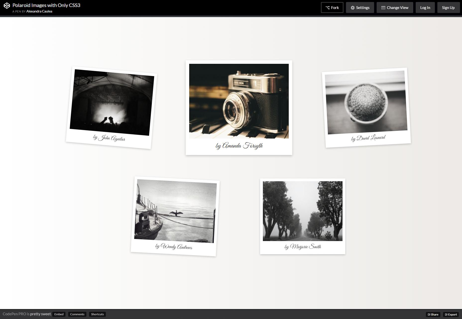 Efectos Polaroid CSS3-Only