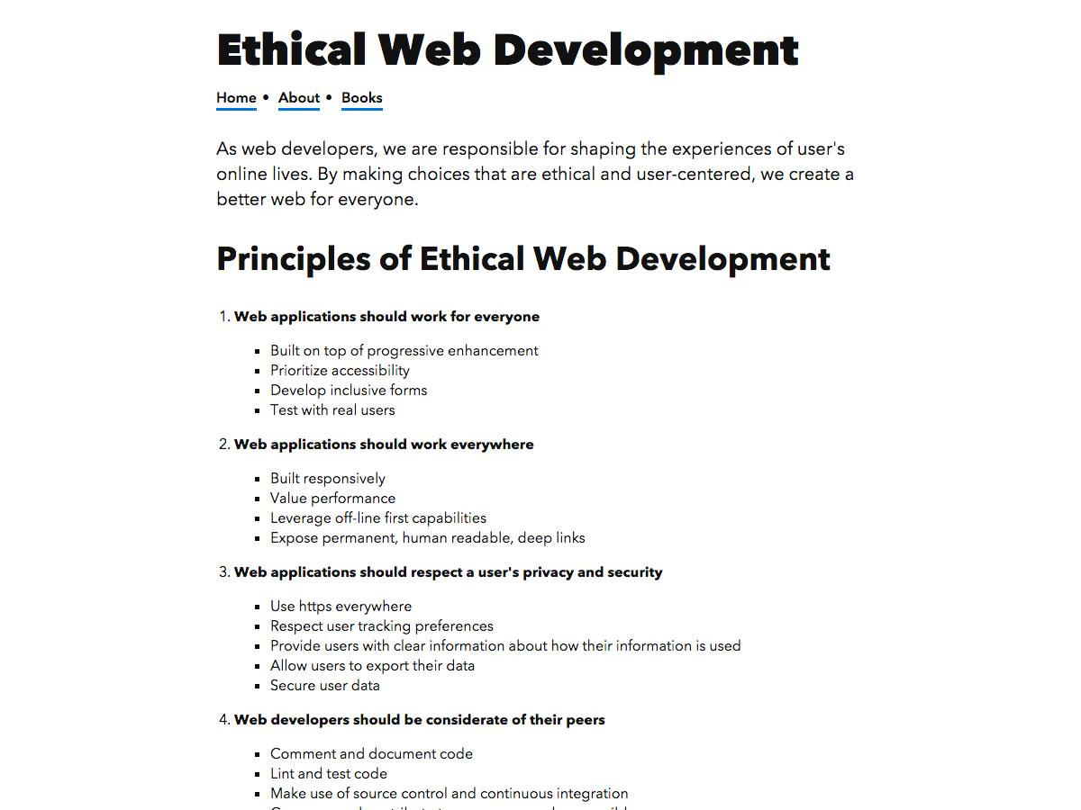 ethisch web