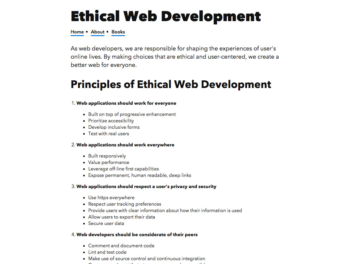 web ética