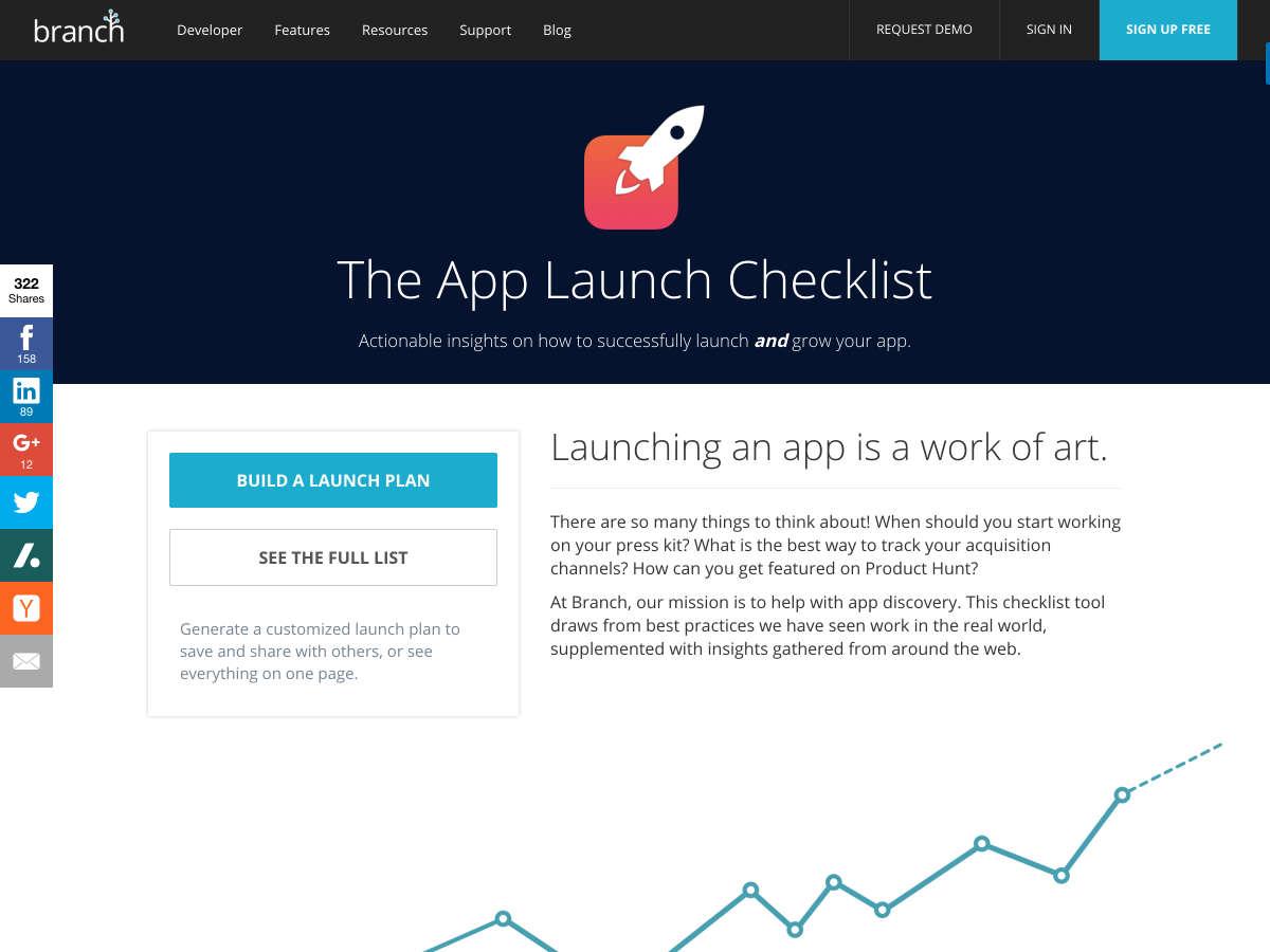 lista de comprobación de lanzamiento de la aplicación