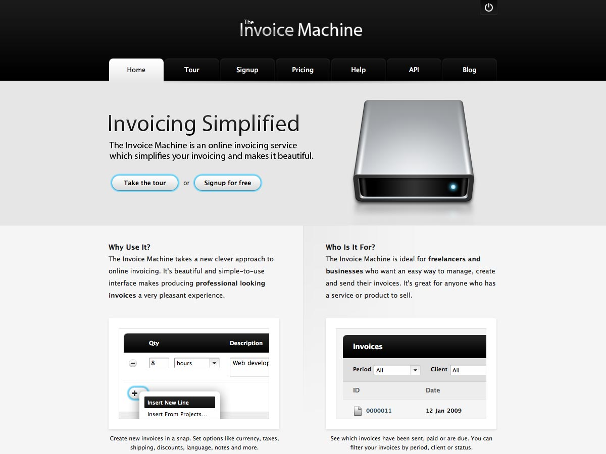 invoice machine