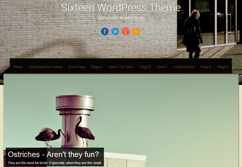 Sixteen WP theme