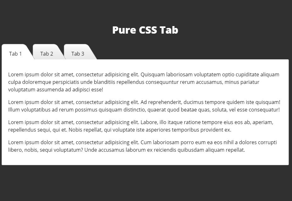 Pestañas Pure CSS3
