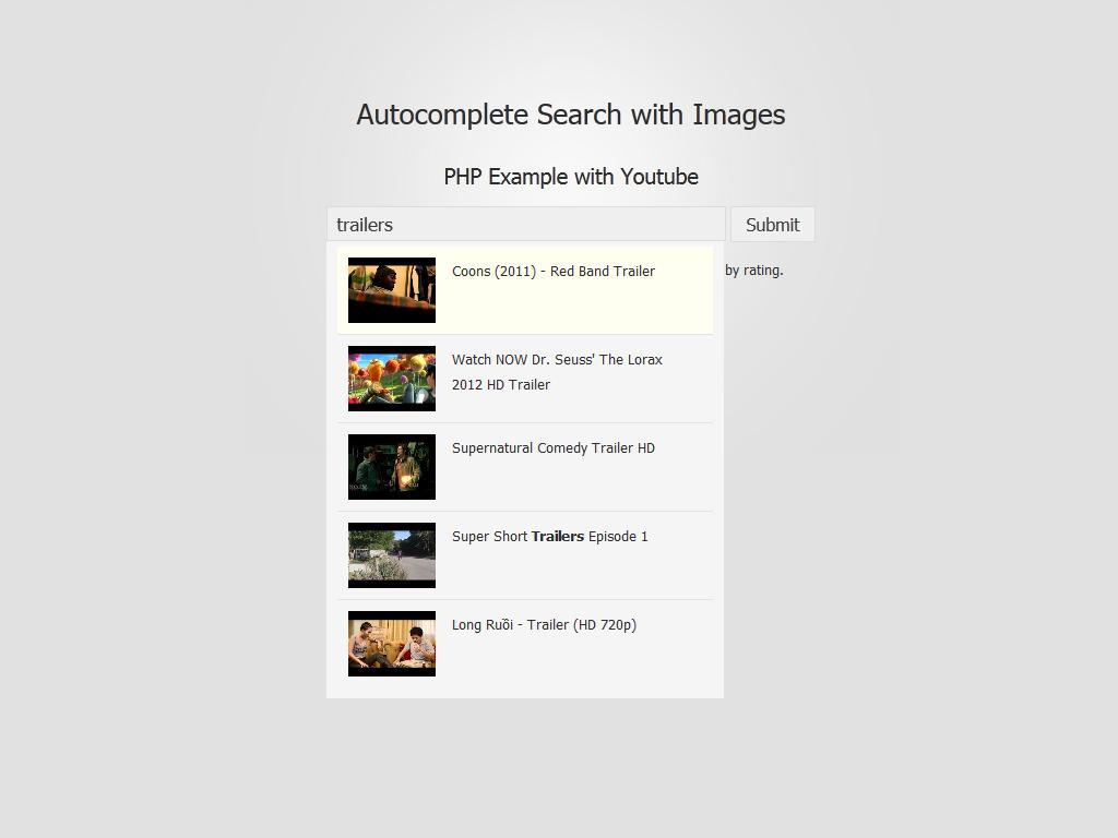 Foxycomplete como motor de búsqueda de Youtube