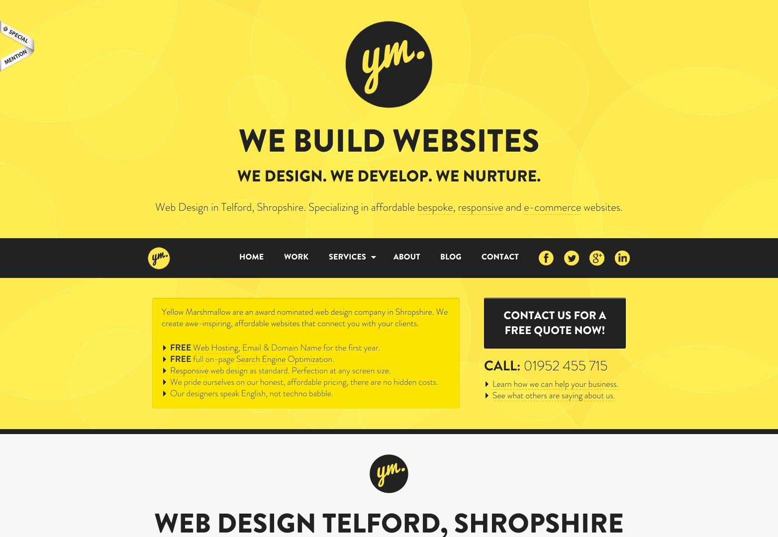 Web Design Telford | Web Design Shropshire | Žlutá Marshmallow