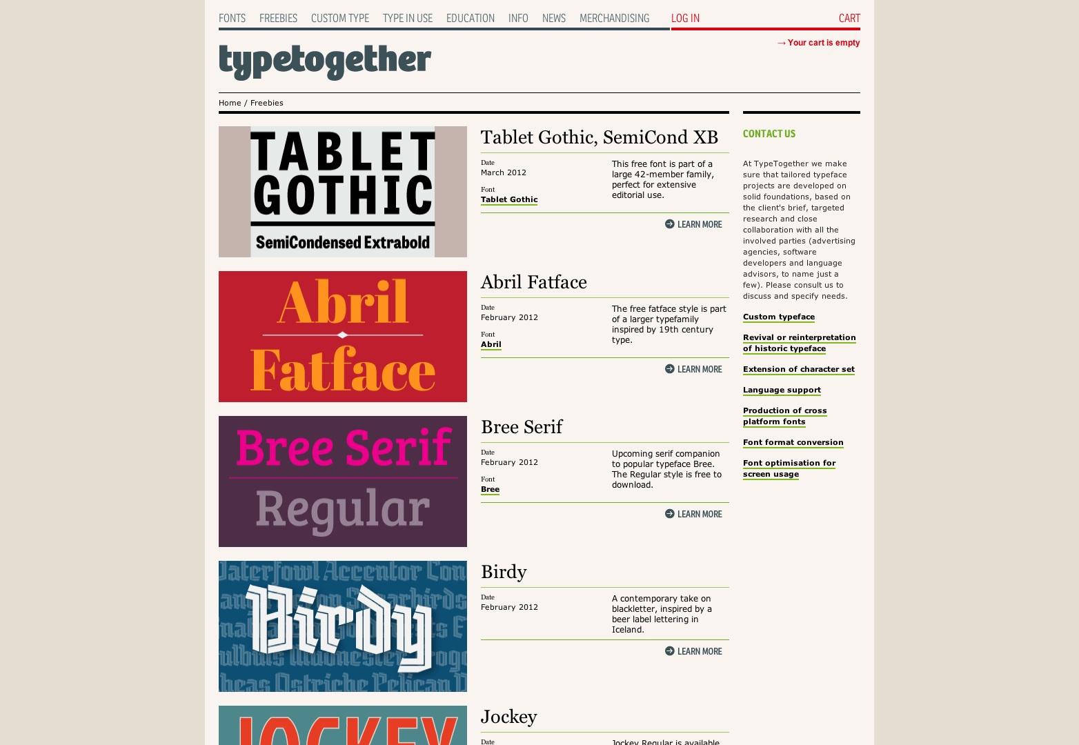 Freebies - Type Together: hoge kwaliteit lettertypen en aangepast type ontwerp