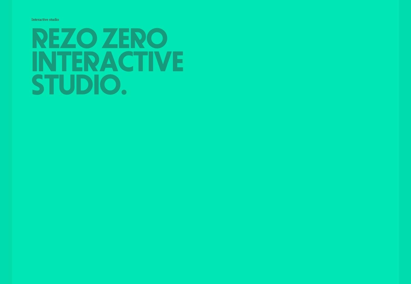 Interaktivní designové studio Lyon | REZO ZERO