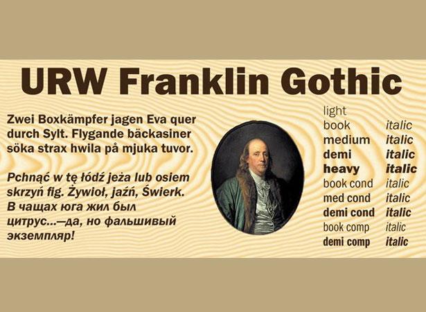 Franklin Gothic Font