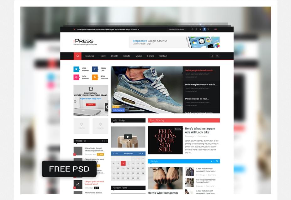 IPress: revista y plantilla de blog