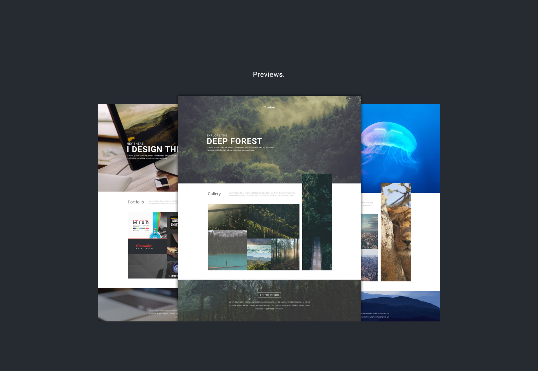 Webby: Photo-featured Website PSD Template