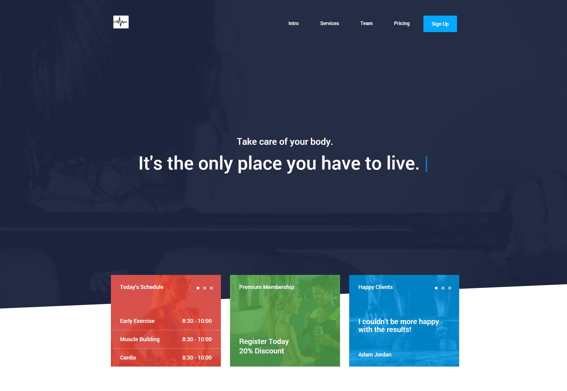 Cardio: Plantilla HTML de una página web