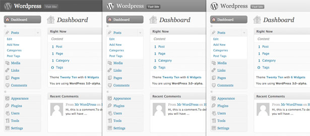 Comparaciones de maquetas de WordPress