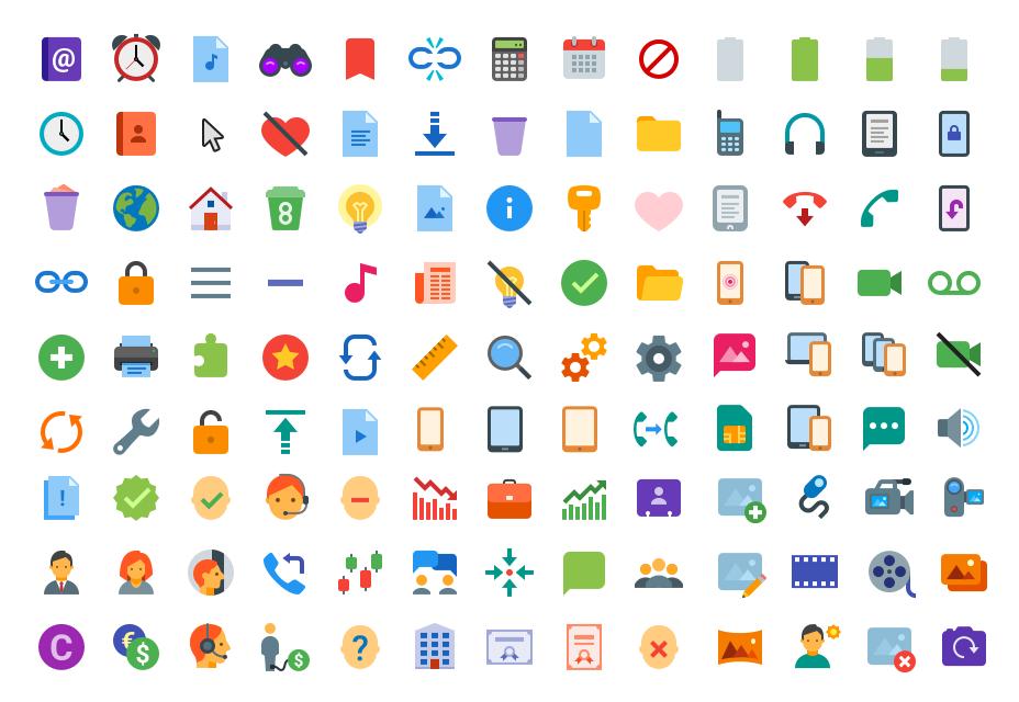 Iconos de color plano
