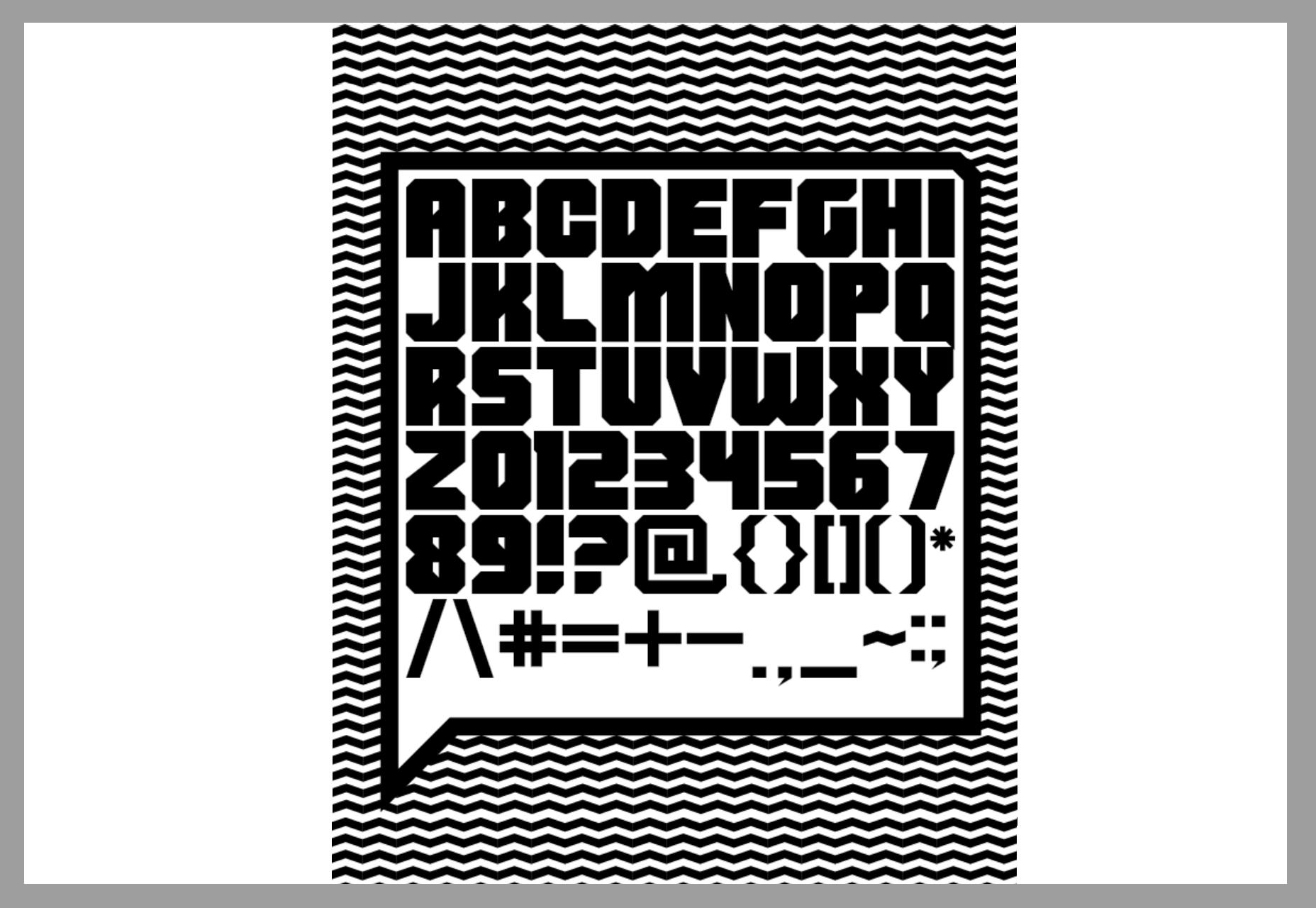 Shumi: Vet Lettertype met rechte randen