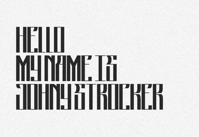 Johny Strocker font