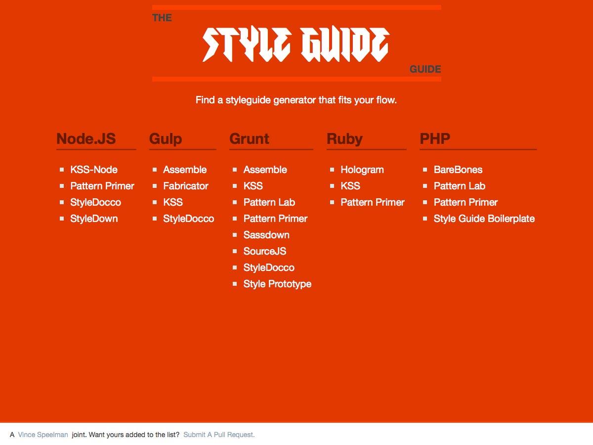 guía de guía de estilo