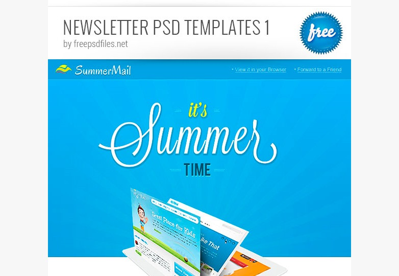 Newsletter PSD templates