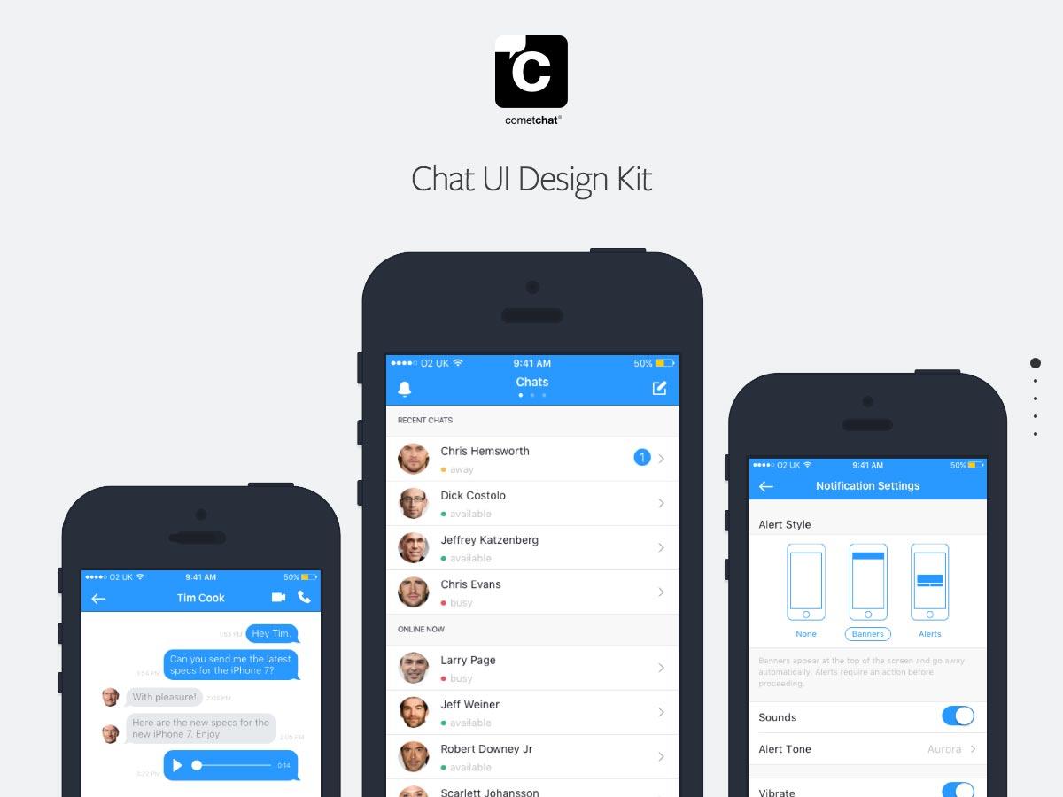 kit de diseño de chat ui