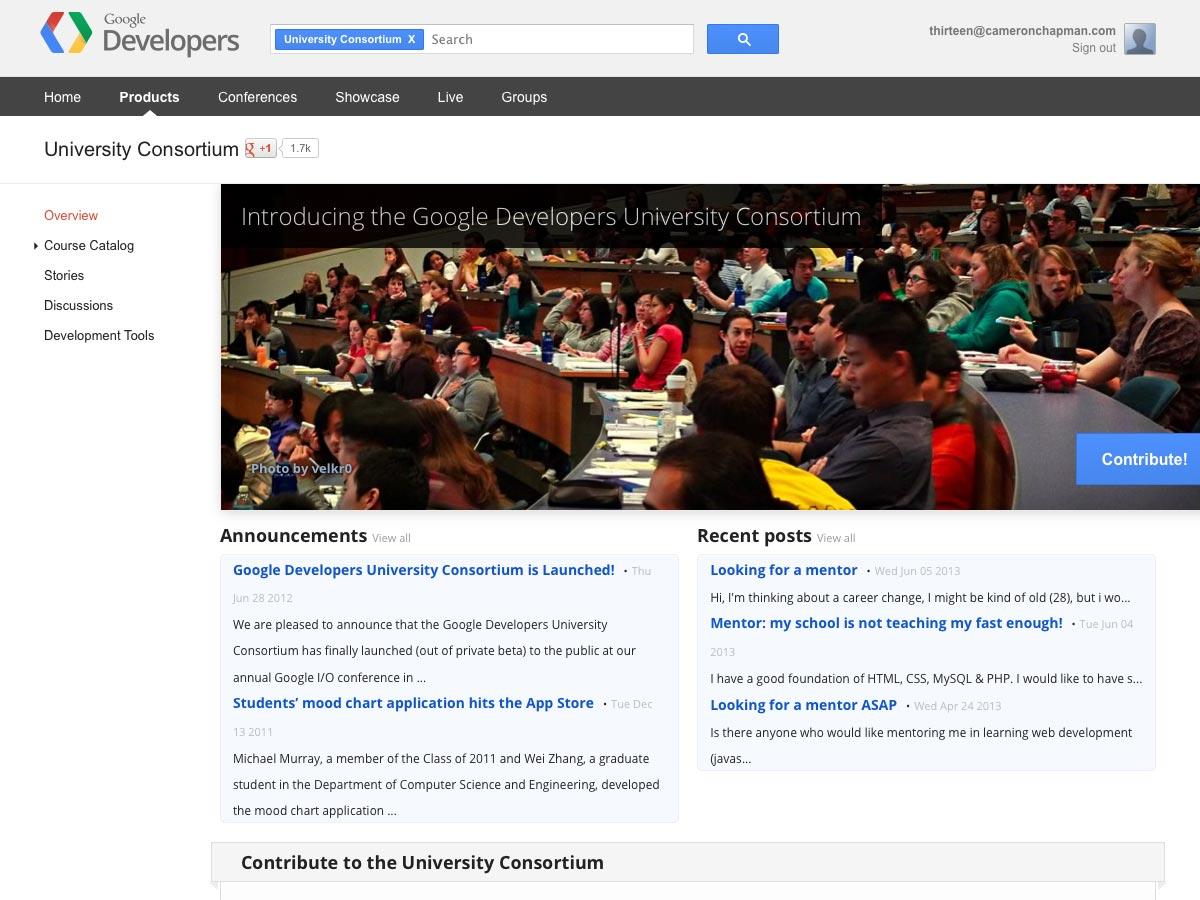 Konsorcium univerzit Google Developers