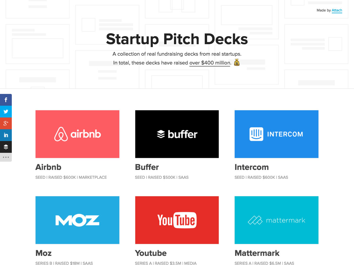 start-up pitch decks