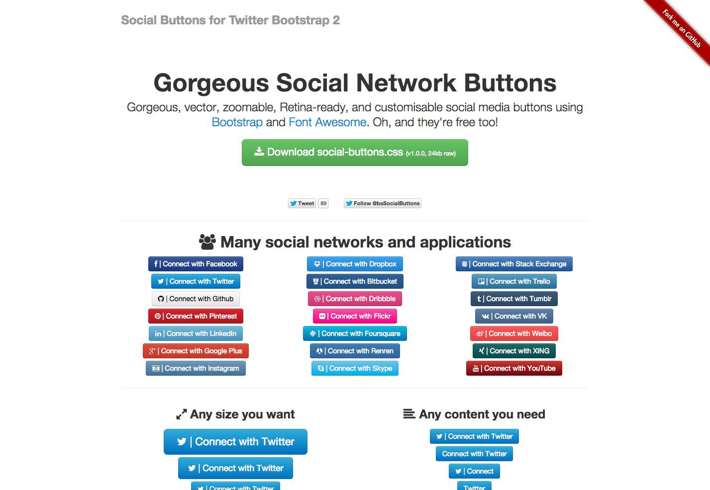botones sociales