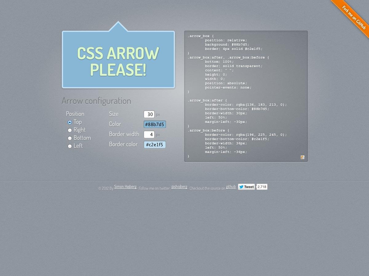 css arrow prosím