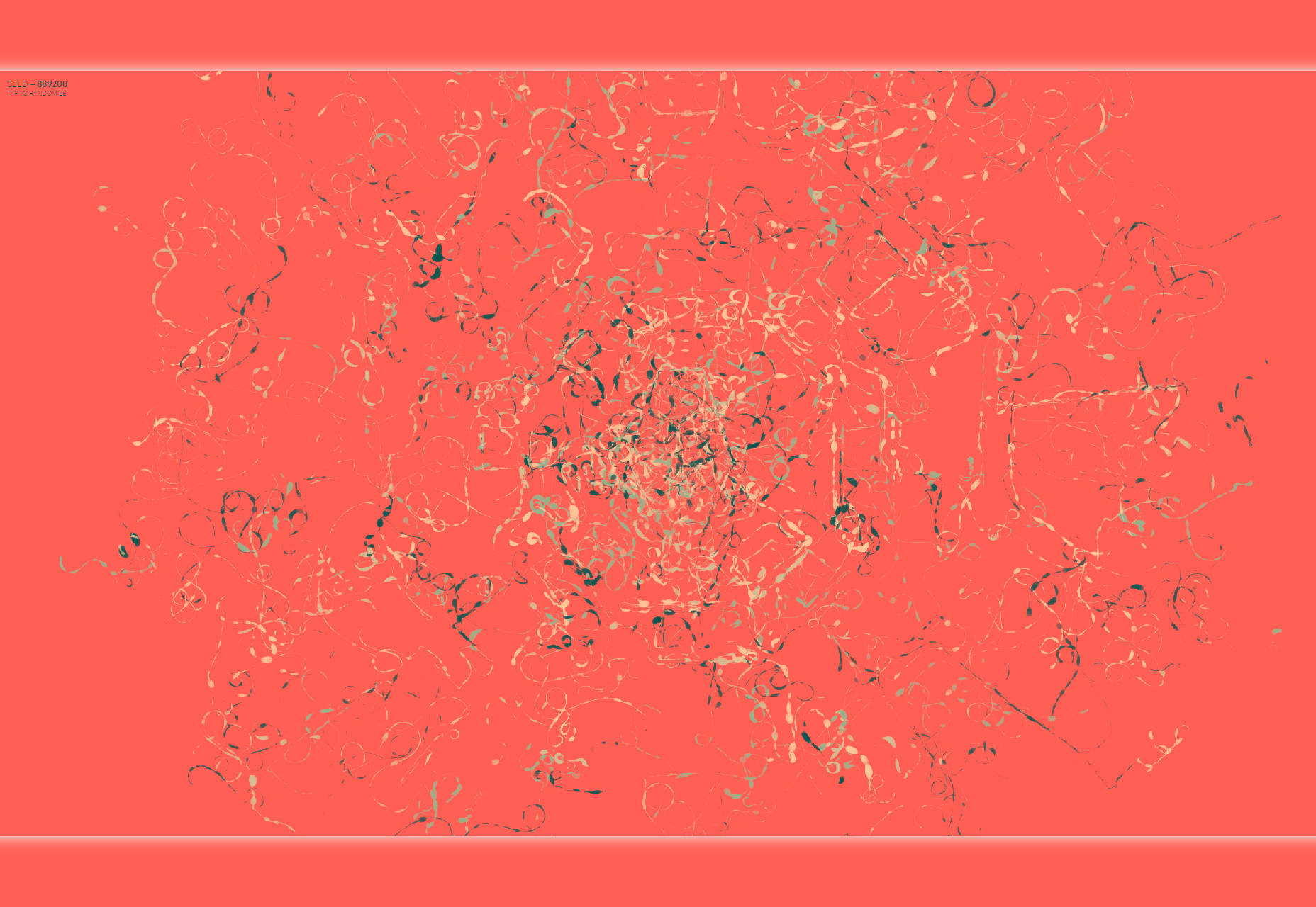 Color-wander: Seeded Tilfeldig Basert Generative Artwork i Node / Browser
