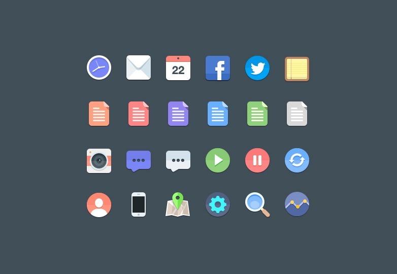 24-free-flat-icons