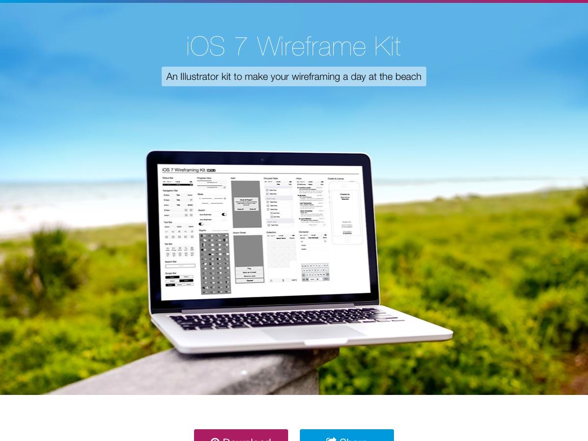 sada ios7 wireframe