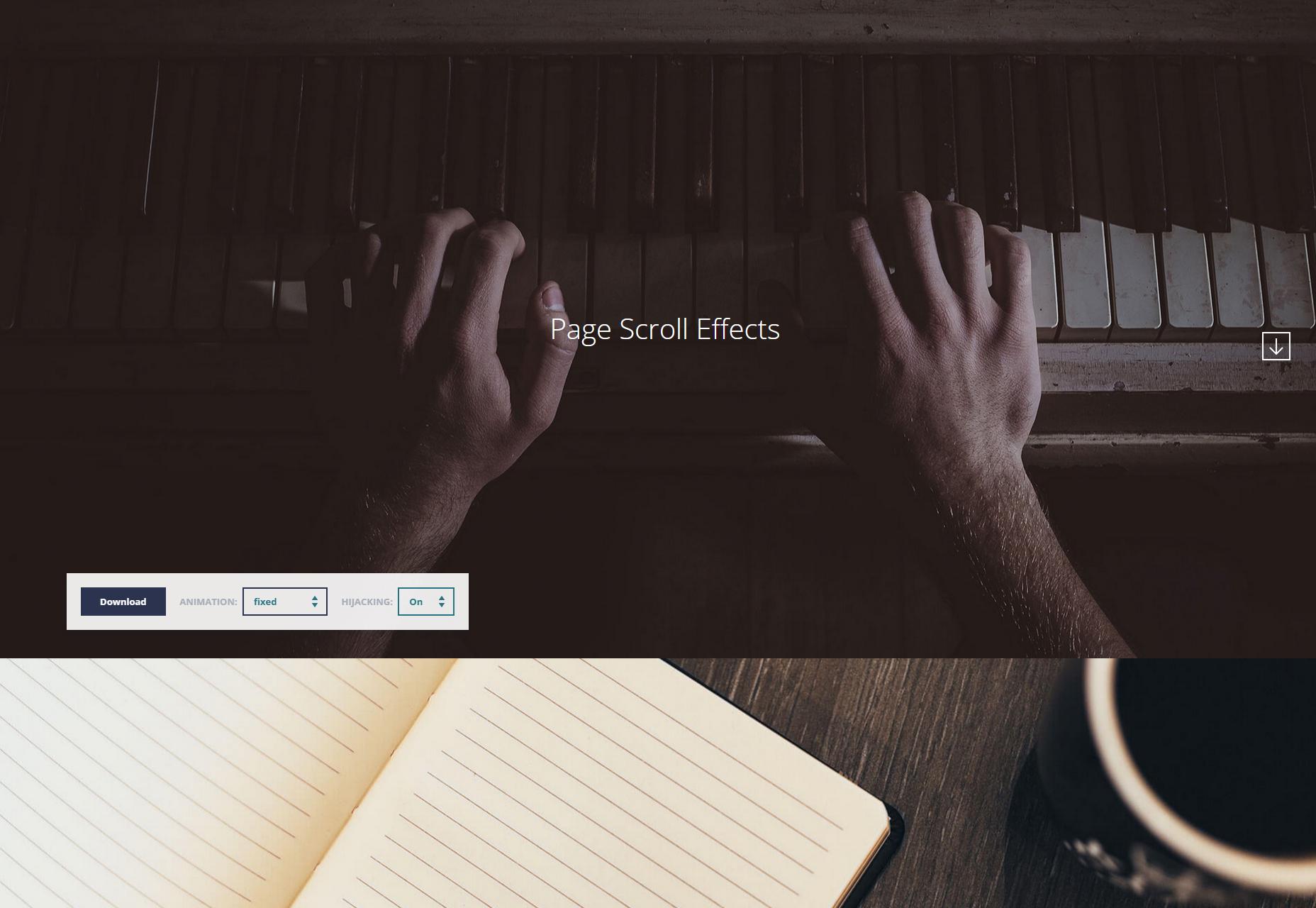 Efectos de desplazamiento de página múltiple de CSS