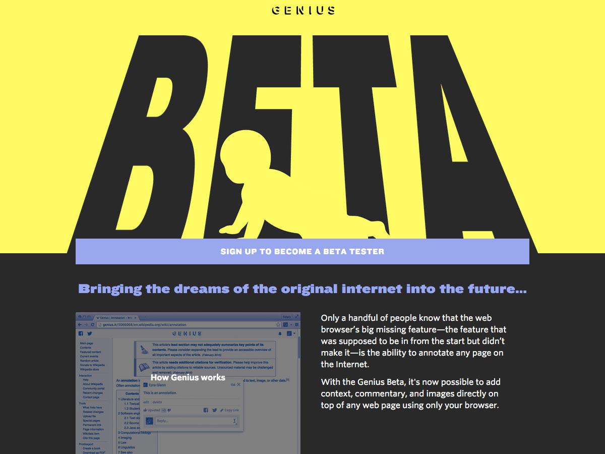 genio beta