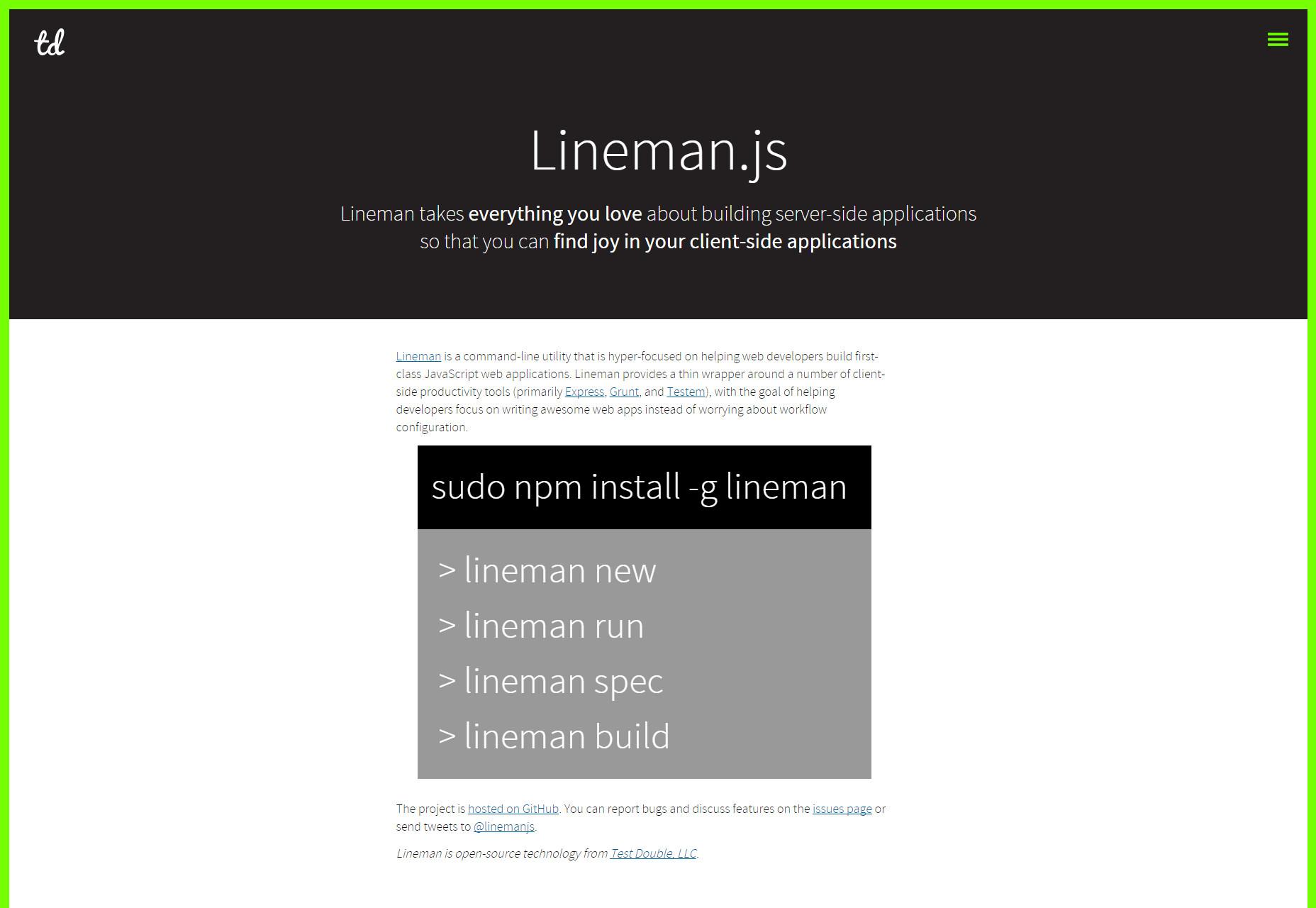 Lineman: Utilidad de línea de comando enfocada en la aplicación del lado del cliente
