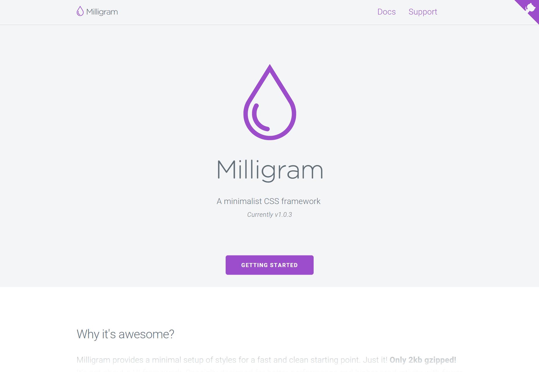 Milligram: minimalistisch CSS-raamwerk