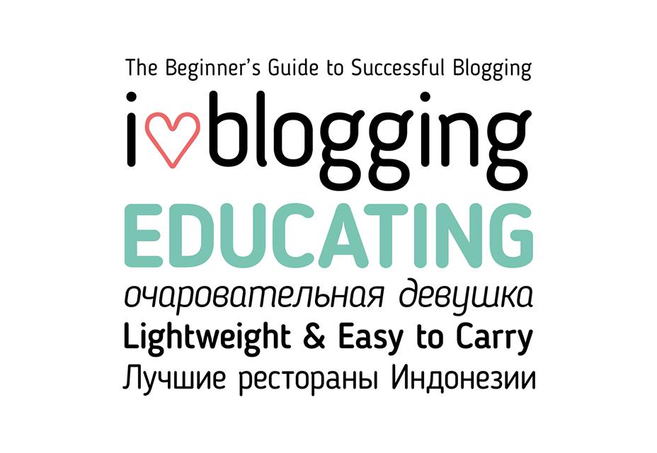 Tipo de letra libre de Blogs Sans Serif