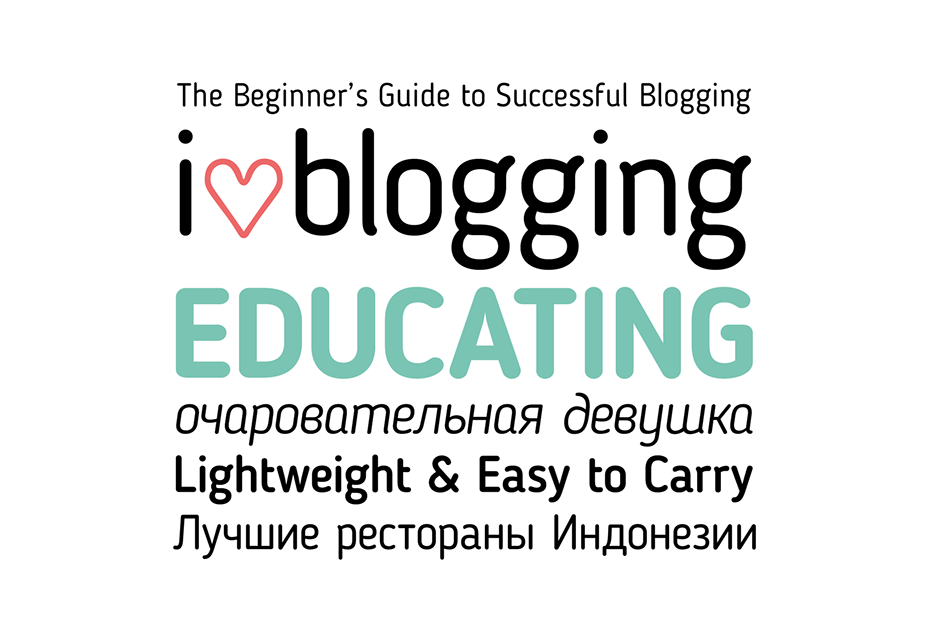 Gratis blogger zonder serif letterbeeld