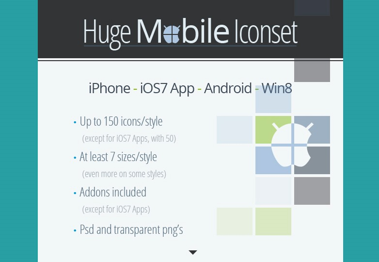 Huge mobile Iconset