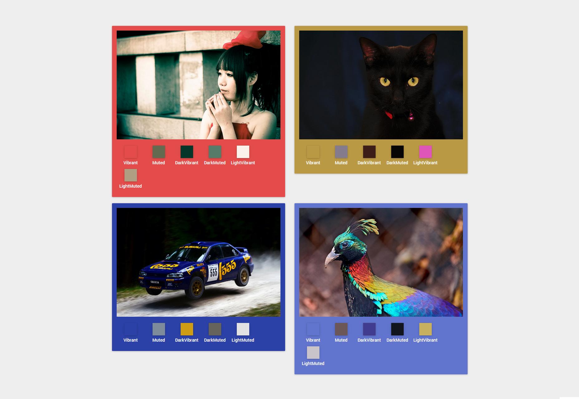 Vibrant.js: Extractor de JavaScript de colores de imagen prominente