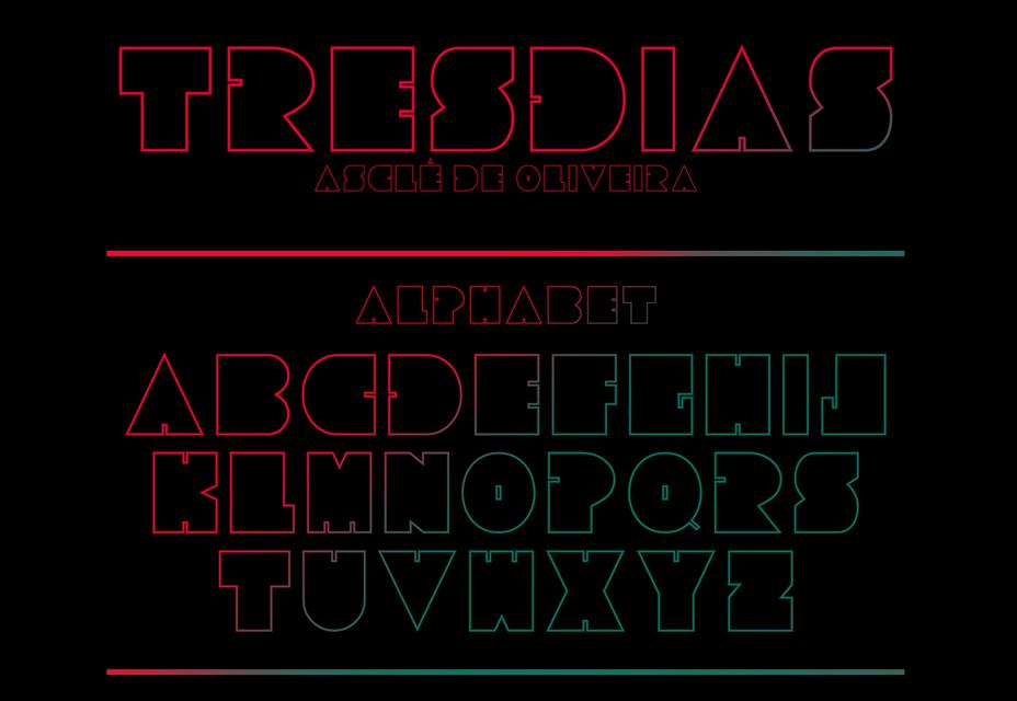Tresdias: Chubby Outline Gratis lettertype