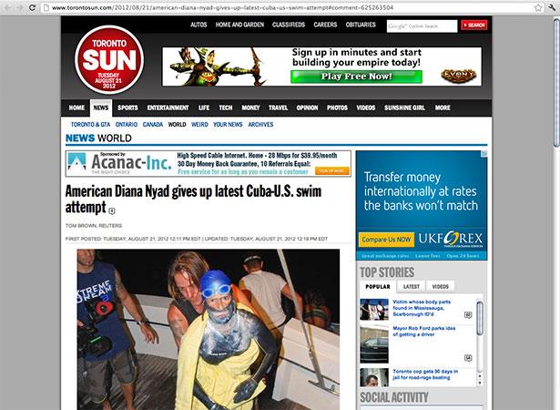 Toronto Sun article