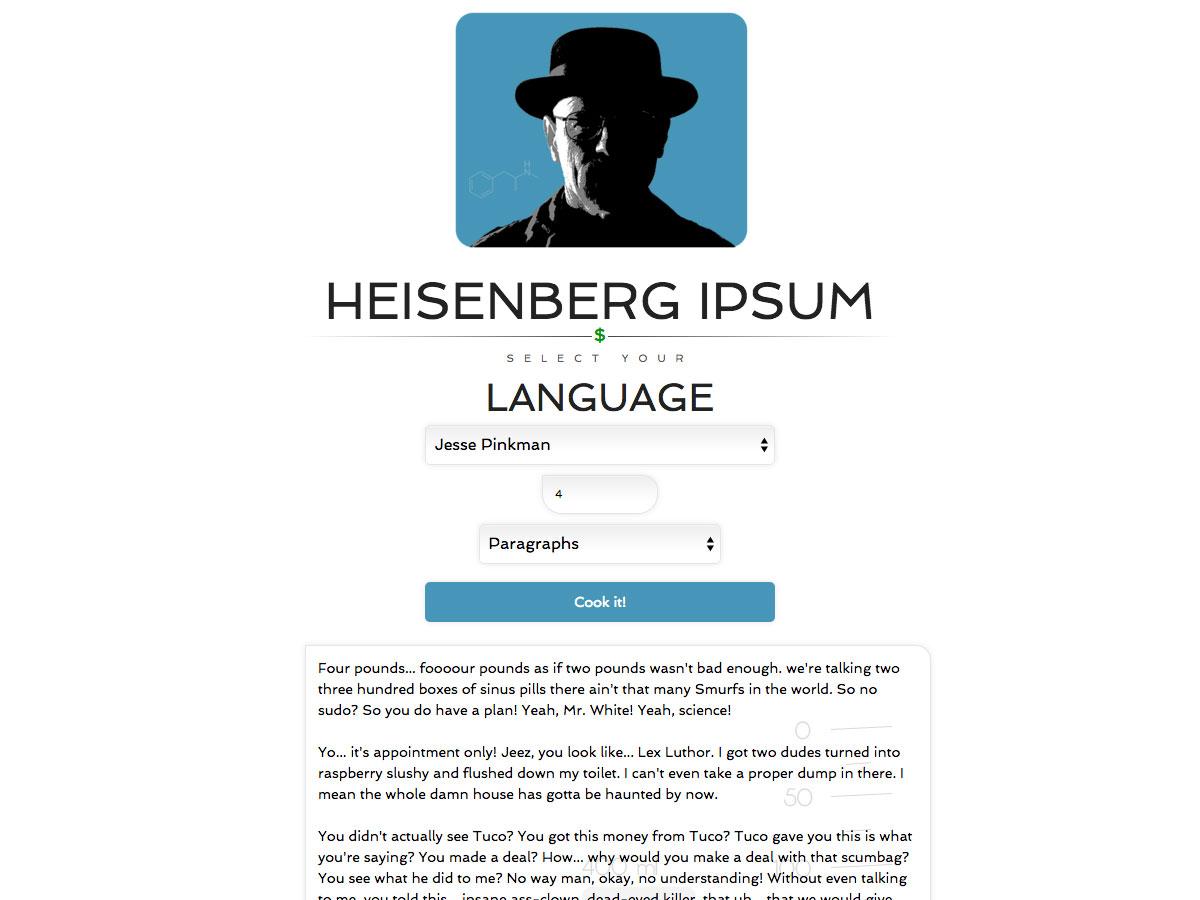 heisenberg ipsum