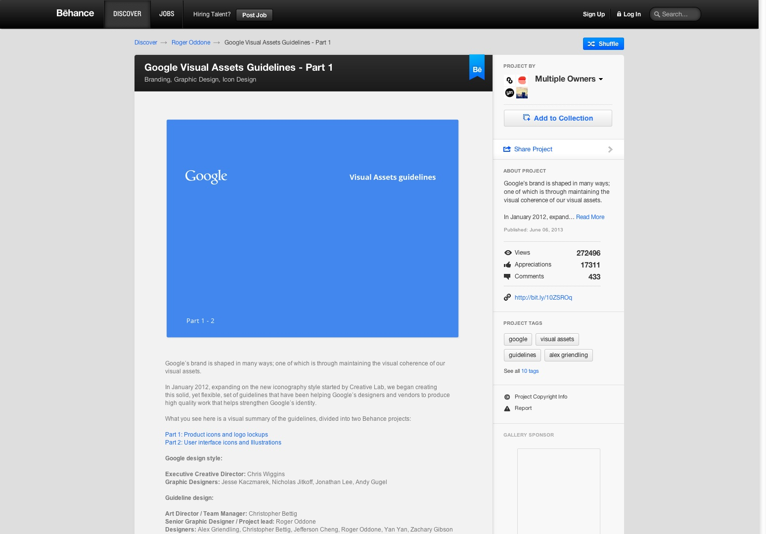 Richtlijnen voor visuele inhoud van Google - deel 1 over Behance