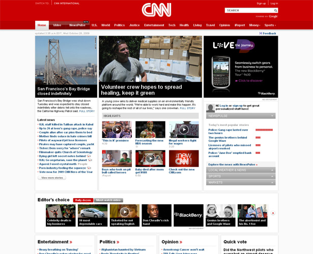 CNN.com new home page