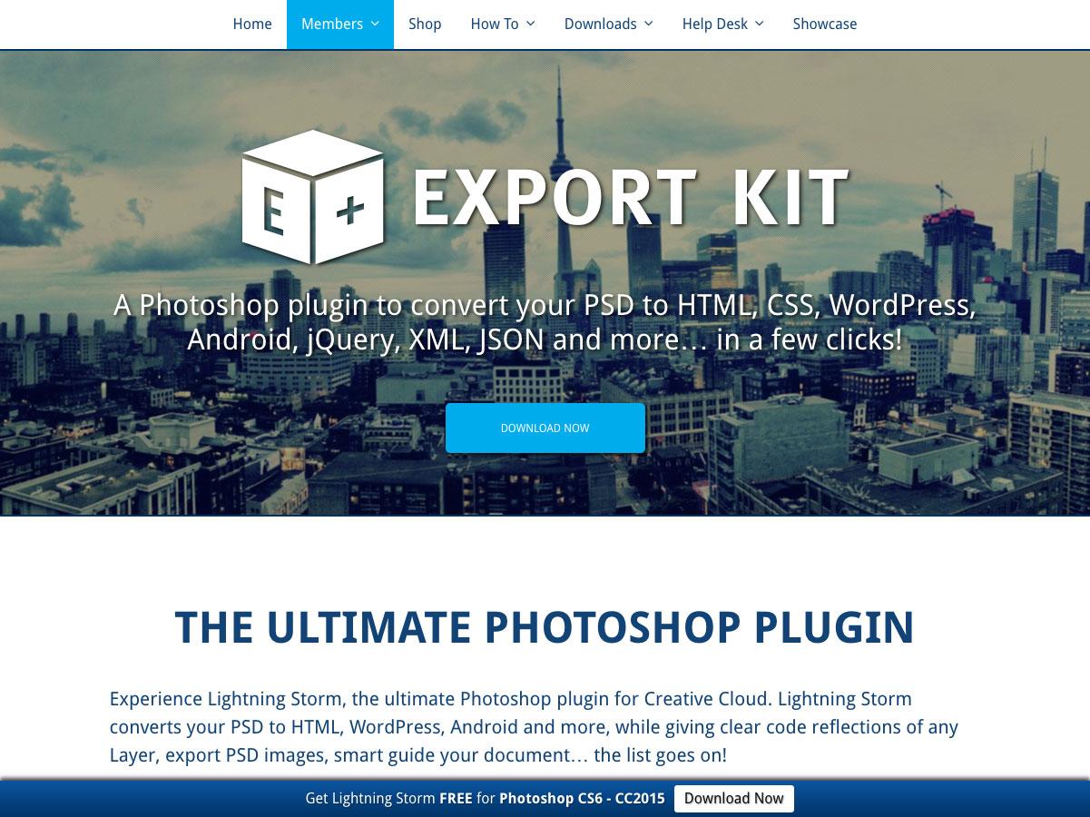 kit de exportación